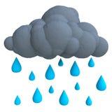 Σύννεφο βροχής κινούμενων σχεδίων από το plasticine ή τον άργιλο Στοκ Εικόνες