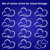 Σύννεφο εικονιδίων Στοκ φωτογραφία με δικαίωμα ελεύθερης χρήσης