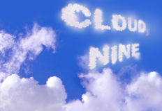 Σύννεφο εννέα Στοκ εικόνες με δικαίωμα ελεύθερης χρήσης