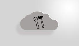 Σύννεφο «κάτω από της κατασκευής» Στοκ φωτογραφία με δικαίωμα ελεύθερης χρήσης