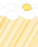 Σύννεφο και ήλιος Στοκ εικόνες με δικαίωμα ελεύθερης χρήσης