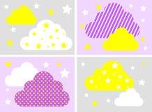 Σύννεφο και αστέρι - διανυσματική απεικόνιση Στοκ Εικόνες