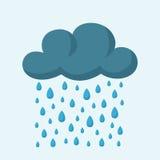 Σύννεφο και βροχή Στοκ Εικόνα