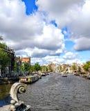 Σύννεφο καναλιών του Άμστερνταμ Στοκ εικόνες με δικαίωμα ελεύθερης χρήσης