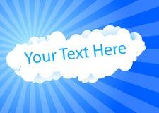 σύννεφο καρτών απεικόνιση αποθεμάτων