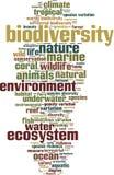 Σύννεφο λέξης βιοποικιλότητας διανυσματική απεικόνιση