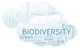 Σύννεφο λέξης βιοποικιλότητας απεικόνιση αποθεμάτων