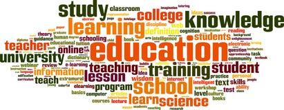 Σύννεφο λέξης εκπαίδευσης διανυσματική απεικόνιση