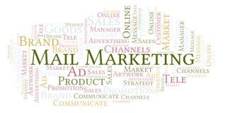 Σύννεφο λέξης με το μάρκετινγκ ταχυδρομείου κειμένων διανυσματική απεικόνιση