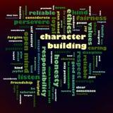 Σύννεφο λέξης οικοδόμησης χαρακτήρα στοκ φωτογραφία με δικαίωμα ελεύθερης χρήσης