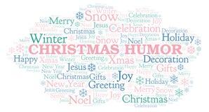 Σύννεφο λέξης χιούμορ Χριστουγέννων ελεύθερη απεικόνιση δικαιώματος