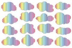 Σύννεφο με τις χρωματισμένες γραμμές, διάνυσμα Στοκ εικόνα με δικαίωμα ελεύθερης χρήσης