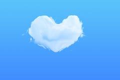 Σύννεφο μορφής καρδιών Στοκ φωτογραφίες με δικαίωμα ελεύθερης χρήσης