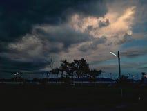 Σύννεφο ουρανού σκιαγραφιών Στοκ φωτογραφία με δικαίωμα ελεύθερης χρήσης