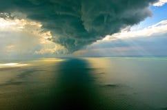 Σύννεφο πέρα από τη Κασπίας Στοκ Εικόνες