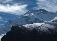 Σύννεφο πέρα από Annapurna δύο Στοκ εικόνα με δικαίωμα ελεύθερης χρήσης