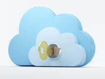 Σύννεφο που υπολογίζει, ασφάλεια Στοκ Εικόνες