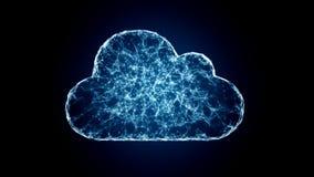 Σύννεφο που υπολογίζει, σύμβολο ΤΠ των τεχνολογιών σύννεφων Στοκ Φωτογραφίες