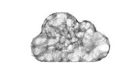 Σύννεφο που υπολογίζει, σύμβολο ΤΠ των τεχνολογιών σύννεφων Στοκ Εικόνες