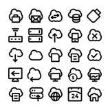 Σύννεφο που υπολογίζει τα διανυσματικά εικονίδια 5 Στοκ εικόνα με δικαίωμα ελεύθερης χρήσης