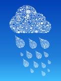Σύννεφο που υπολογίζει το κοινωνικό υπόβαθρο μέσων Στοκ Φωτογραφίες