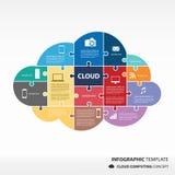 Σύννεφο που υπολογίζει το infographic διάνυσμα διανυσματική απεικόνιση
