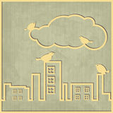 Σύννεφο πόλεων Στοκ φωτογραφία με δικαίωμα ελεύθερης χρήσης
