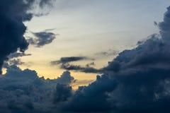 Σύννεφο στον ουρανό στο πρωί Στοκ Εικόνα