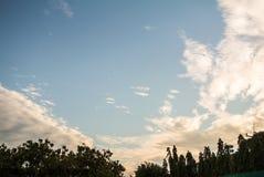Σύννεφο στον ουρανό Στοκ Φωτογραφίες