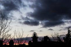 Σύννεφο σωλήνων λάβας ουρανού στοκ φωτογραφίες