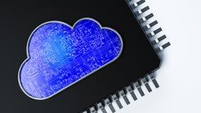 σύννεφο του 2010 που υπολ&omicron Στοκ Εικόνα