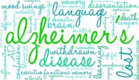 Σύννεφο του Alzheimer ` s Word Στοκ Εικόνες