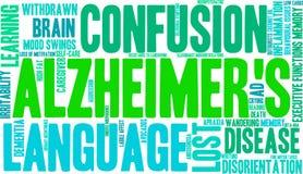 Σύννεφο του Alzheimer ` s Word Στοκ εικόνα με δικαίωμα ελεύθερης χρήσης