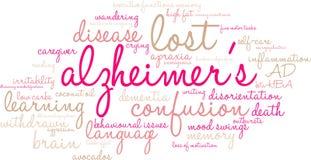 Σύννεφο του Alzheimer ` s Word Στοκ φωτογραφίες με δικαίωμα ελεύθερης χρήσης