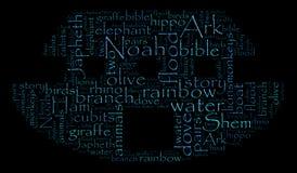 Σύννεφο του Word κιβωτών του Νώε στοκ φωτογραφία με δικαίωμα ελεύθερης χρήσης