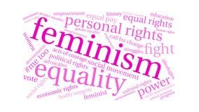 Σύννεφο του Word φεμινισμού ελεύθερη απεικόνιση δικαιώματος