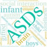 Σύννεφο του Word ASDs Στοκ Εικόνα