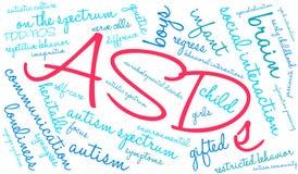 Σύννεφο του Word ASDs Στοκ εικόνα με δικαίωμα ελεύθερης χρήσης