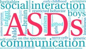 Σύννεφο του Word ASDs Στοκ εικόνες με δικαίωμα ελεύθερης χρήσης