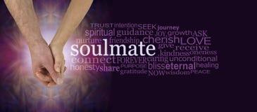 Σύννεφο του Word Soulmates χέρι-χέρι Στοκ εικόνα με δικαίωμα ελεύθερης χρήσης