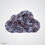 Σύννεφο φιαγμένο από cogwheels διανυσματική απεικόνιση