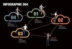 Σύννεφο Infographic Στοκ Εικόνες