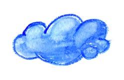 Σύννεφο Watercolor, διανυσματική απεικόνιση Στοκ Εικόνες