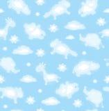 σύννεφων χαριτωμένο αστείο παιχνίδι ουρανού προτύπων άνευ ραφής ελεύθερη απεικόνιση δικαιώματος