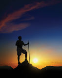 σύνοδος κορυφής αυγής Στοκ φωτογραφία με δικαίωμα ελεύθερης χρήσης