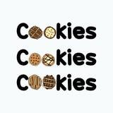 Σύνολα έργου τέχνης λογότυπων μπισκότων απεικόνιση αποθεμάτων