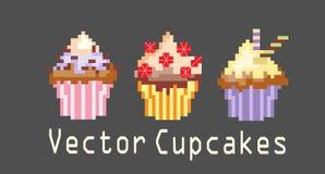 Σύνολα cupcakes για τη διακόσμηση Στοκ φωτογραφίες με δικαίωμα ελεύθερης χρήσης
