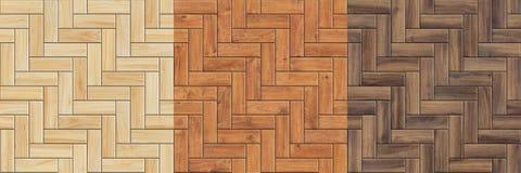 Σύνολο άνευ ραφής συστάσεων υψηλής ανάλυσης του ξύλινου παρκέ Σχέδια ψαροκόκκαλων στοκ φωτογραφία με δικαίωμα ελεύθερης χρήσης