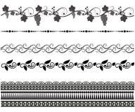 Σύνολο άνευ ραφής σχεδίων Mehndi απεικόνιση αποθεμάτων