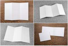 Σύνολο άσπρων βιβλιάριων στοκ εικόνες